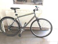 "Kona Dew Deluxe Mountain Bike 20"" silver with yellow brake lines Men's Bike Women's Bike Bicycle"
