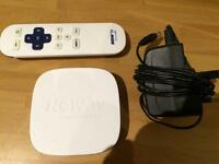 Now TV Box with remote and cable