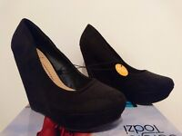 Suede Wedges - new - size 4 - collection only