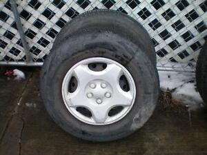 2 Motomaster AW All Season Tires on Rims * P205 75R14 95S * $50.00 for 2 .  M+S / All Season Tires ( used tires )