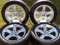 """2013 BMW F30 3 SERIES 17"""" ALLOYS WHEELS / TYRES e46 e87 e90 e91 e92 e93"""