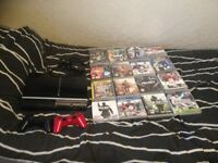 PS3 16 Games 2 Controllers All Cables 112GB