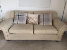 2 x cream couch / sofa