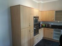 Barely used  kitchen: dishwasher, fridge-freezer, oven, microwave, hob, extraction fan, granit