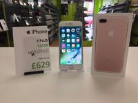 IPHONE 7 PLUS 128GB ROSE GOLD UNLOCKED 6 MONTHS WARRANTY