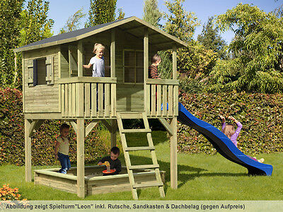 "Kinderhaus ""Leon"" Kinderspielhaus Stelzenhaus Gartenhaus Baumhaus Holz Spielhaus"