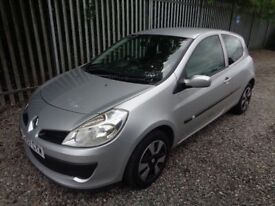 RENAULT CLIO 2007 1.2 3 DOOR SILVER 35,000 MILES M.O.T 12 MONTHS NO ADVISORIES* VERY LOW MILES *