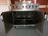 Used Moorwood Vulcan Gas Oven Range, 6 burners and large 2-door oven - great condition