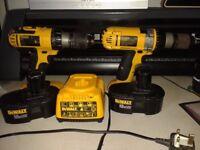 Dewalt Cordless Hammer Drill DW988 & Cordless DC725 Drill Driver