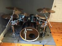 Tama Superstar Hyperdrive drumkit, cymbals and gig bags