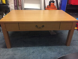 Oak Effect Coffee Table with 2 Drawers