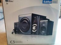 Edifier C3 2.1 Speaker system, boxed with remote. Great system!