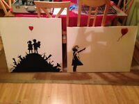 BANKSY style prints - Set of 2