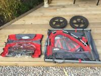 Instep kids double buggy cycle trailer