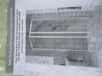 800 x800 shower enclosure and try with all fittings used but in good condition L/H or R/H