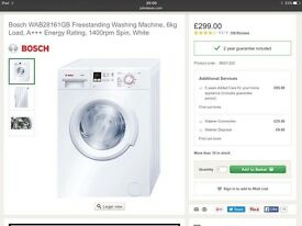 Bosch WAB28161GB Freestanding Washing Machine // £249 ONO // 7 months old// hardly used