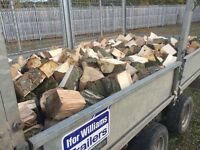Hardwood Logs/firewood, Seasoned, £100, Load approx same as 3 dumpy bags trailer 10 feet x 5.5 feet.