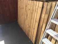 40ft solid wood 4ft high fence with posts