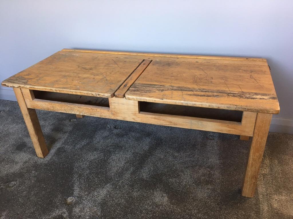 Tv Cabinet Stand From Old Vintage School Desk