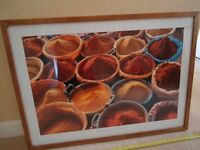 PICTURE AND PICTURE FRAME 50CM X 70CM