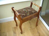 Antique mahogany piano stool