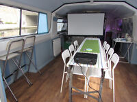 Venue to hire on a BOAT in CAMDEN