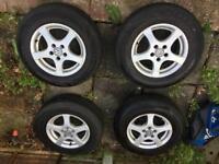 Alloy wheels plus tyres Golf mk IV 175/80 R14