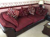 3 Seater Red Sofa