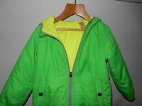 Baby GAP size 3 Yrs Coat Kids Jacket green puffy padded coat