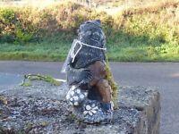 Vintage Sitting Garden Gnome Ornament Garden Statue