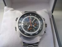 Omega Flightmaster manual mechanical chronograph wristwatch - '70s - ST 145-036 Cal 911