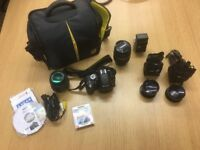 Nikon D3200 Digital SLR Camera with lots of extras