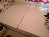 Double divan bed base - no mattress
