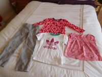 Girls Clothes Collection age 4-5, Exc condition - Verbaudet, Adidas, Boots Mini-Club