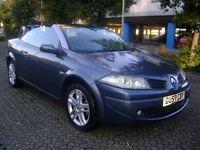 Renault Megane 1.6 VVT Dynamique 2dr 2007 **CONVERTIBLE** LEATHER SEATS** 6 DISC MULTI-CHANGER**