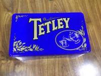 Vintage decorative Tetley Tea tin