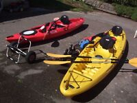 Tarpon T130 tandem kayak to include many extras.