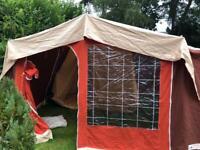 Vintage Eurogrande canvas frame tent