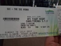 UFC TICKETS, SSE HYDRO 16th July