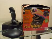 MS Sidewinder Force Feedback Pro Flying & Driving wheel & Pedals Controllers