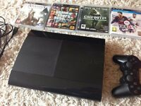PlayStation 3 500 GB four games and one controller
