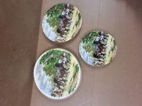 3 x Gypsy fair Plates - Highly collectable -