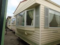 DOUBLE GLAZED AND CENTRAL HEATED STATIC CARAVAN