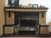 Fireplace with fire surround