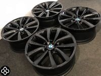 """GENUINE BMW 19"""" ALLOY WHEELS *AVAILABLE WITH TYRES* 5 x 120 - CARBON BLACK - Wheel Smart"""