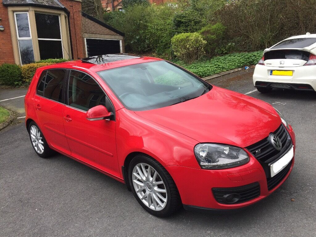 mint 58 plate volkswagen golf 2 0 gt sport tdi 5 dr 170 bhp red sat nav heated leather sunroof. Black Bedroom Furniture Sets. Home Design Ideas