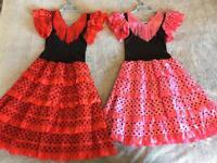 2 x Kids Spanish Flamenco dresses