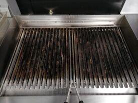 Lava stone / charcoal grill