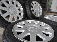 16inch GENUINE audi NEW TYRES leon a4 a3 a6 vw alloys wheels s line golf seat leon t4 t3 CADDY