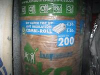 Glass wool insulation, Knauf, 200mm Eko combi roll
